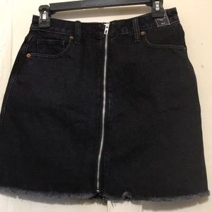 A&F Black denim skirt NWT